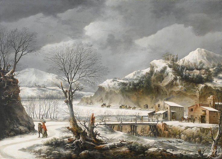 paysage sous la neige peintures xvie xxie si cles chefs d 39 uvre collections palais des. Black Bedroom Furniture Sets. Home Design Ideas