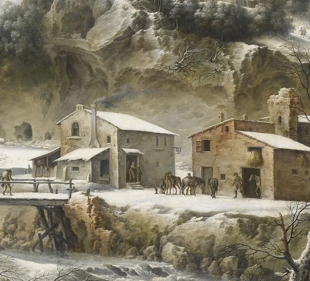 Paysage sous la neige peintures xvie xxie si cles chefs d 39 uvre collections palais des - La ren des neige ...